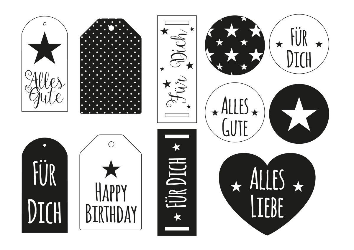 ☆ Geschenkanhänger zum Ausdrucken | Party ♥ | Pinterest ...