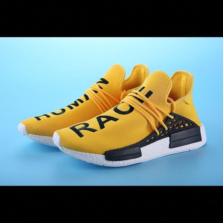 most popular aliexpress best place Adidas Nmd Human Race Pharrell 10 Yellow Shoes | Black casual ...
