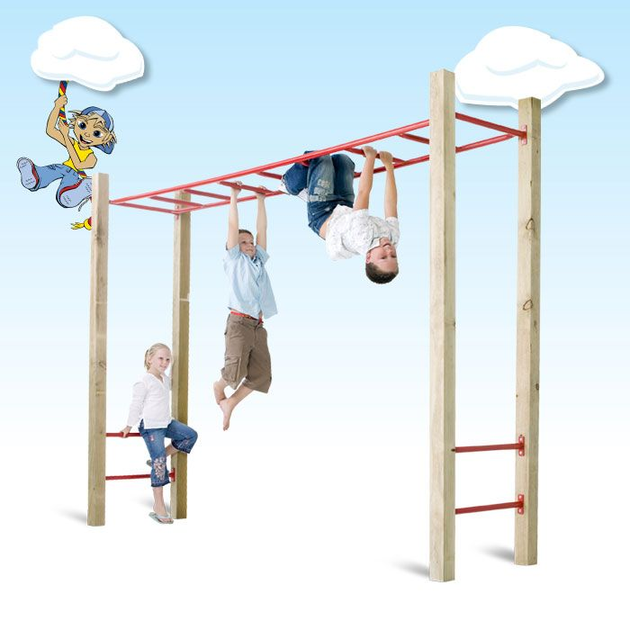 Monkey Bar Kit $450 with wooden posts | playground diy parts ...