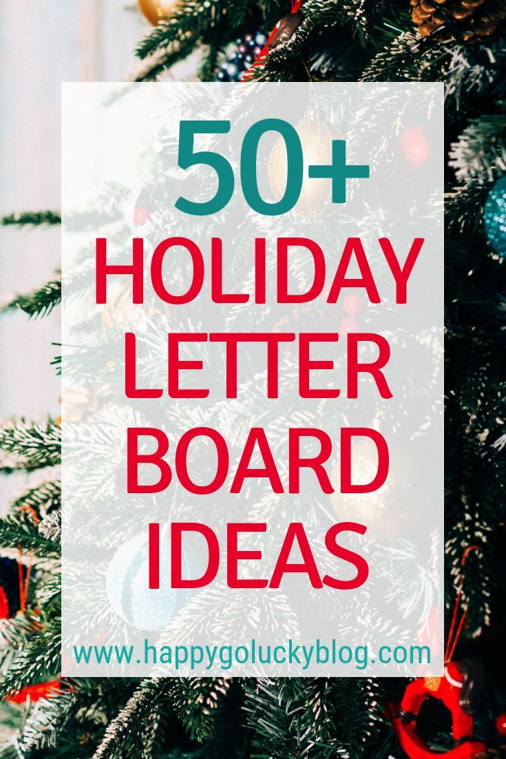 Holiday Letter Board Ideas and Inspiration Lettering