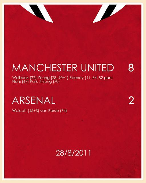 Manchester United 8 2 Arsenal Manchester United Manchester United Football Club Manchester