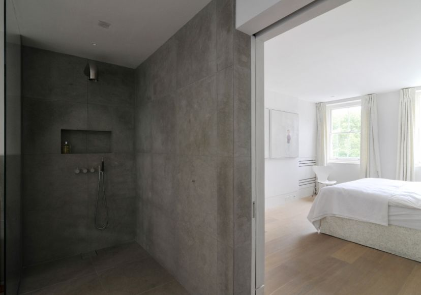 Concrete Walk In Shower With Images Master Bath Remodel