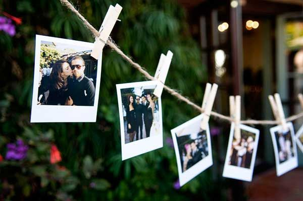 Polaroid and DIY wedding