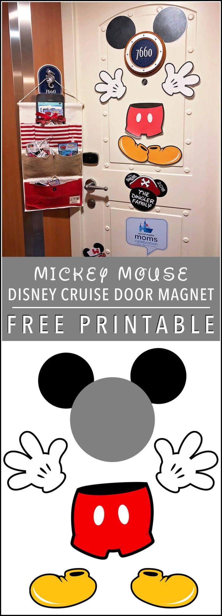Mickey Mouse Door Magnet Free Printable Disney Cruise Line Disneysmmc Disney Cruise Door Disney Dream Cruise Disney Cruise Door Magnets
