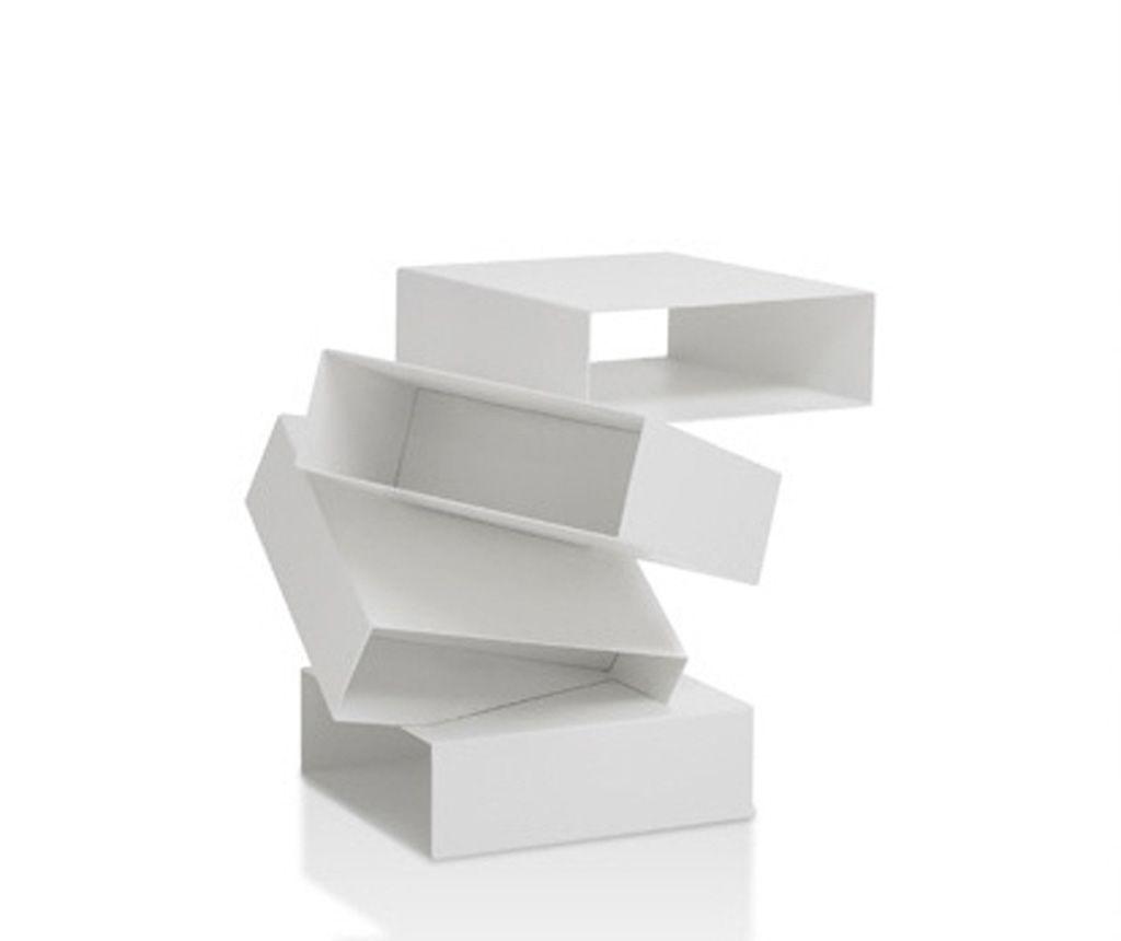 White Bedside Table Design: Modern Look   CrixOne