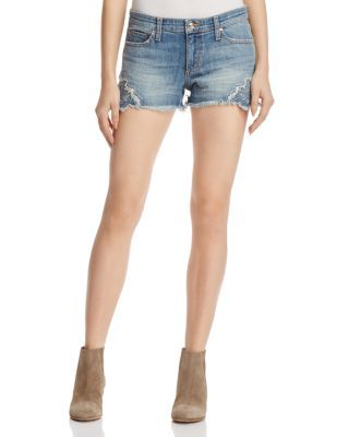 7f59359cdb057 JOE S JEANS Cutoff Crochet Denim Shorts in Thula.  joesjeans  cloth  thula