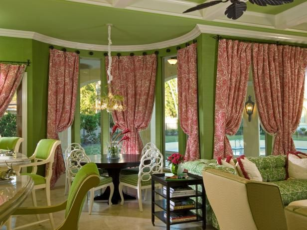 Casual Window Treatments for Dining Room Ideas   Bay ...