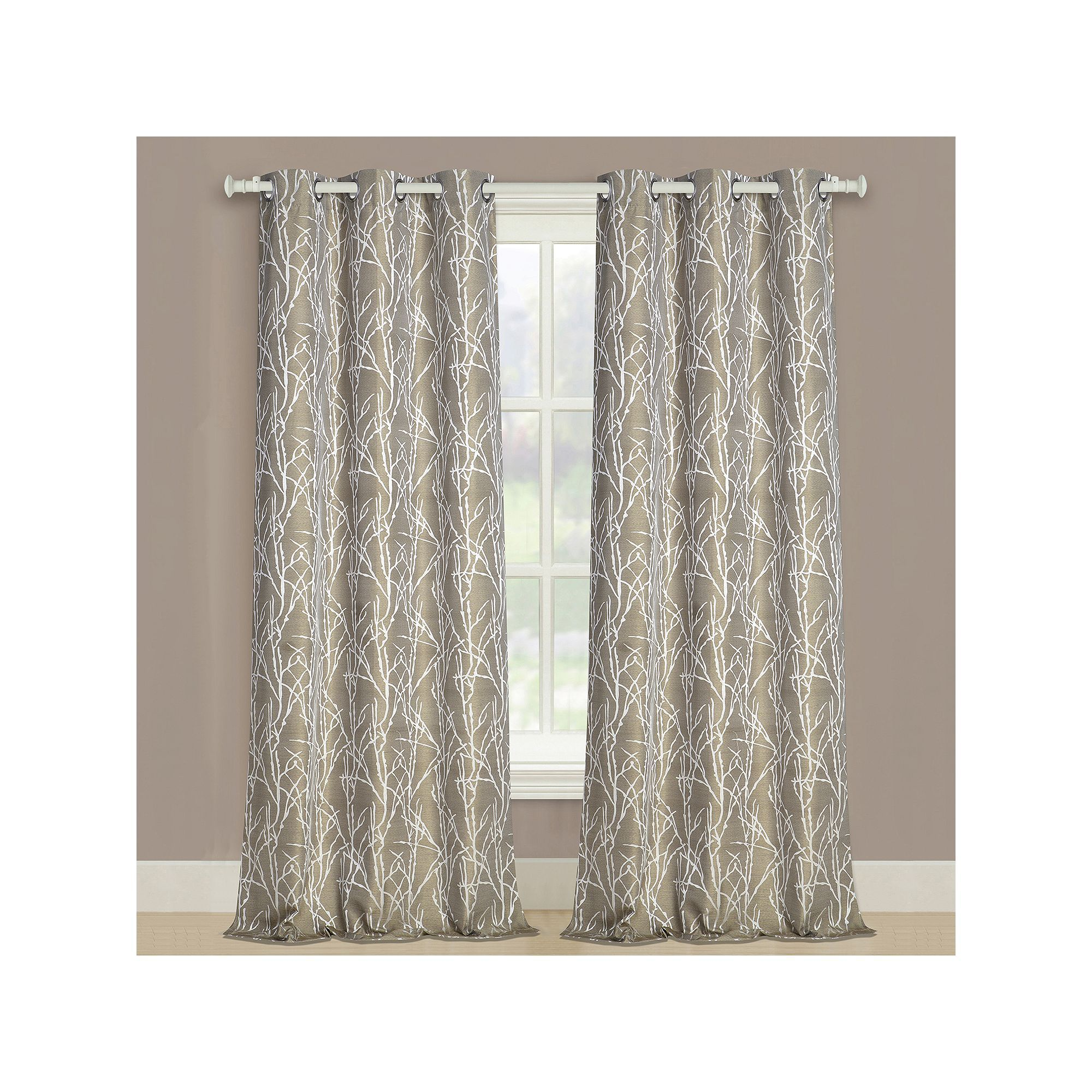 United Curtain Co 2 Pack Taylor Twig Floral Window Curtains