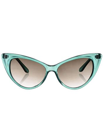 Cateye Sunglasses in Aqua Mist at PLASTICLAND