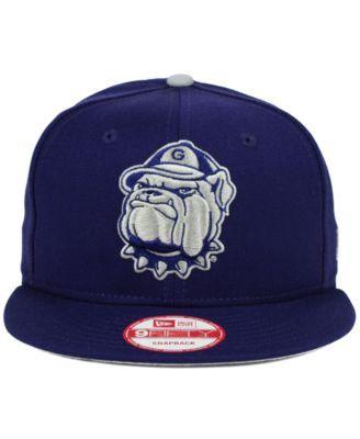 New Era Georgetown Hoyas Core 9fifty Snapback Cap Blue Adjustable Fitted Hats Snapback Cap New Era