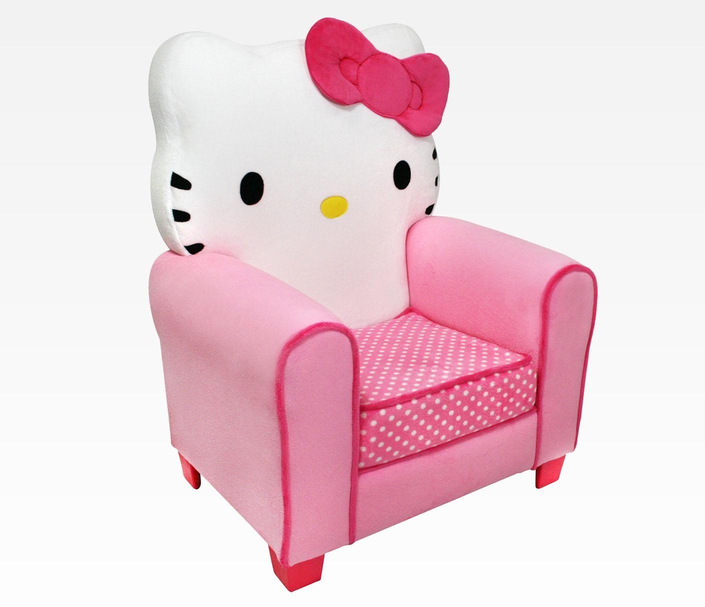 Letti Per Bambini Hello Kitty.Poltrona Rosa Di Hello Kitty Accessori Camera Da Letto Hello