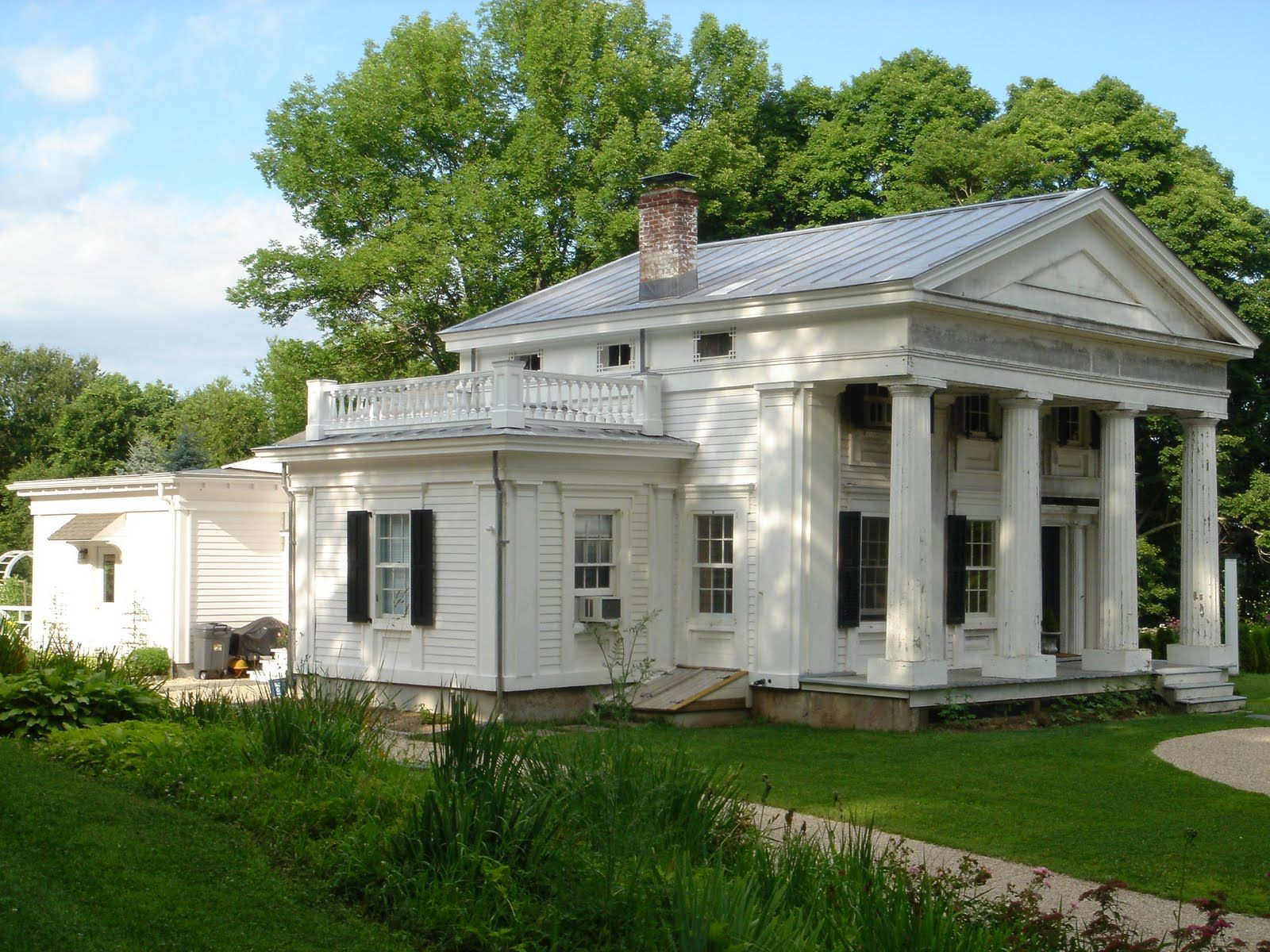 Greek Revival Doric Fluted Columns Greek Revival Home Greek Revival Architecture House Exterior