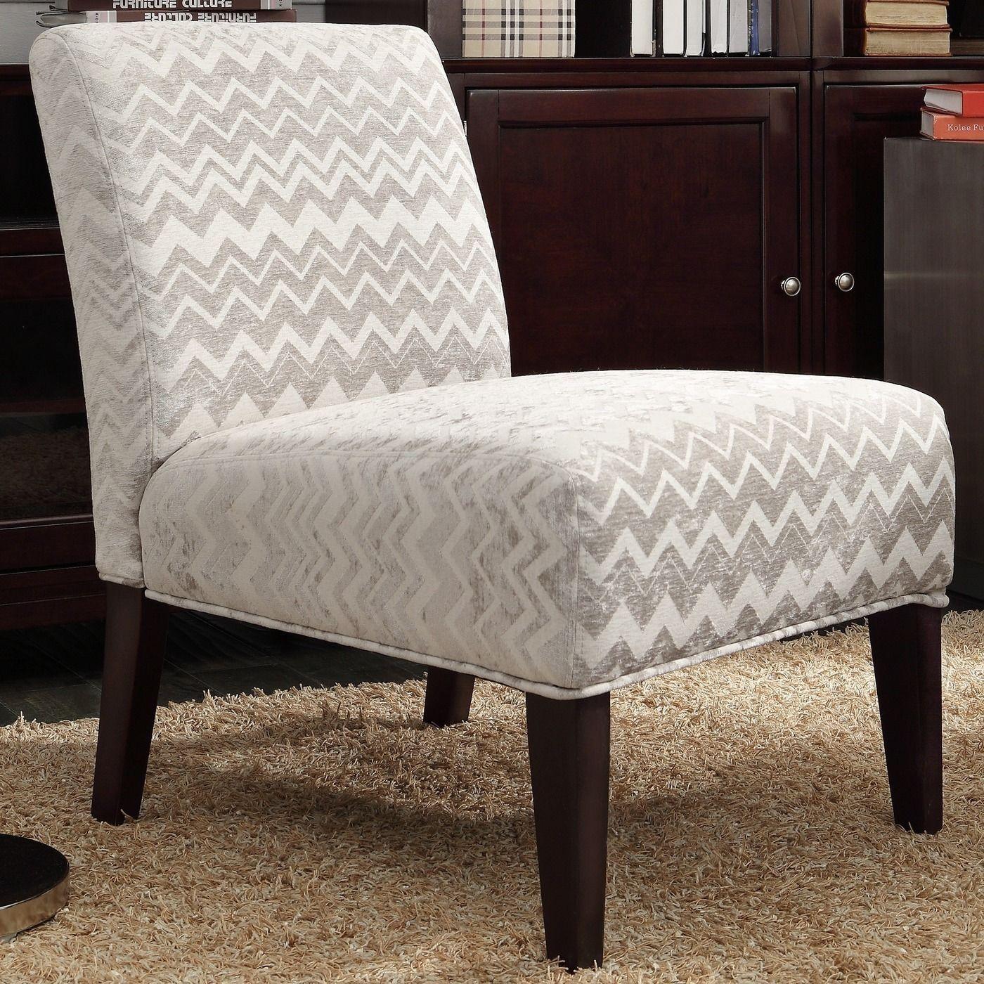 Modern Accent Chair Chevron Gray Stripe Furniture Dining Room