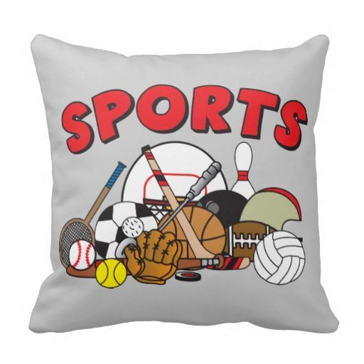 Kids Sports Throw Pillow Promoting Pillows Shopping Pinterest Amazing Decorative Sports Pillows