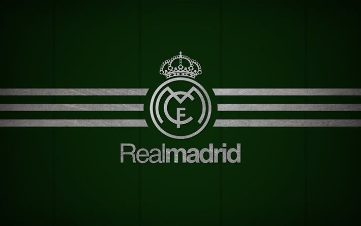 Real Madrid Galacticos Football Club Logo Green Background Real Logo Real Madrid Wallpapers Madrid Wallpaper Real Madrid Logo Wallpapers