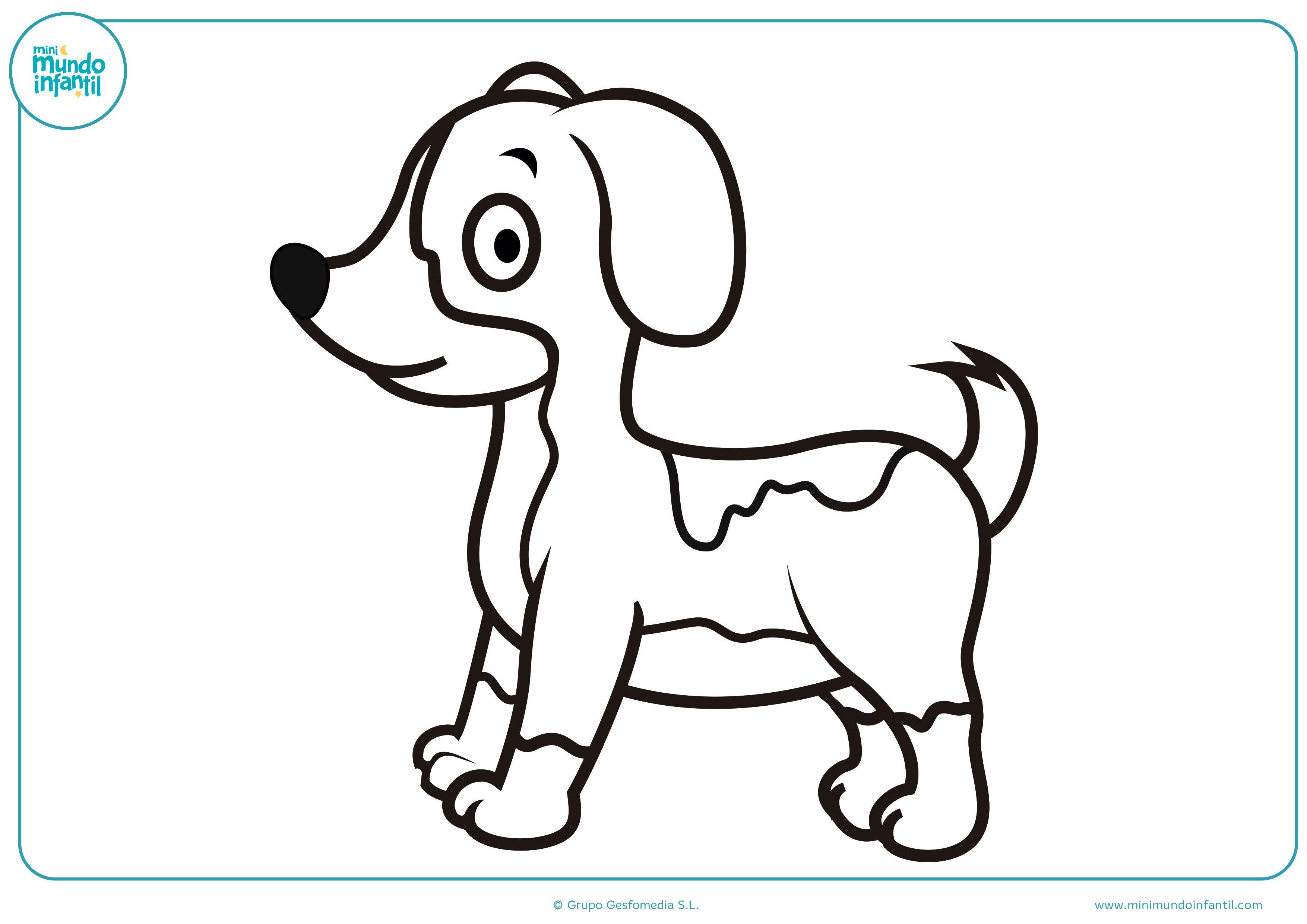 Kawaii Dibujos De Perros Para Pintar Dibujos De Perros Para Colorear Mundo Primaria Animales