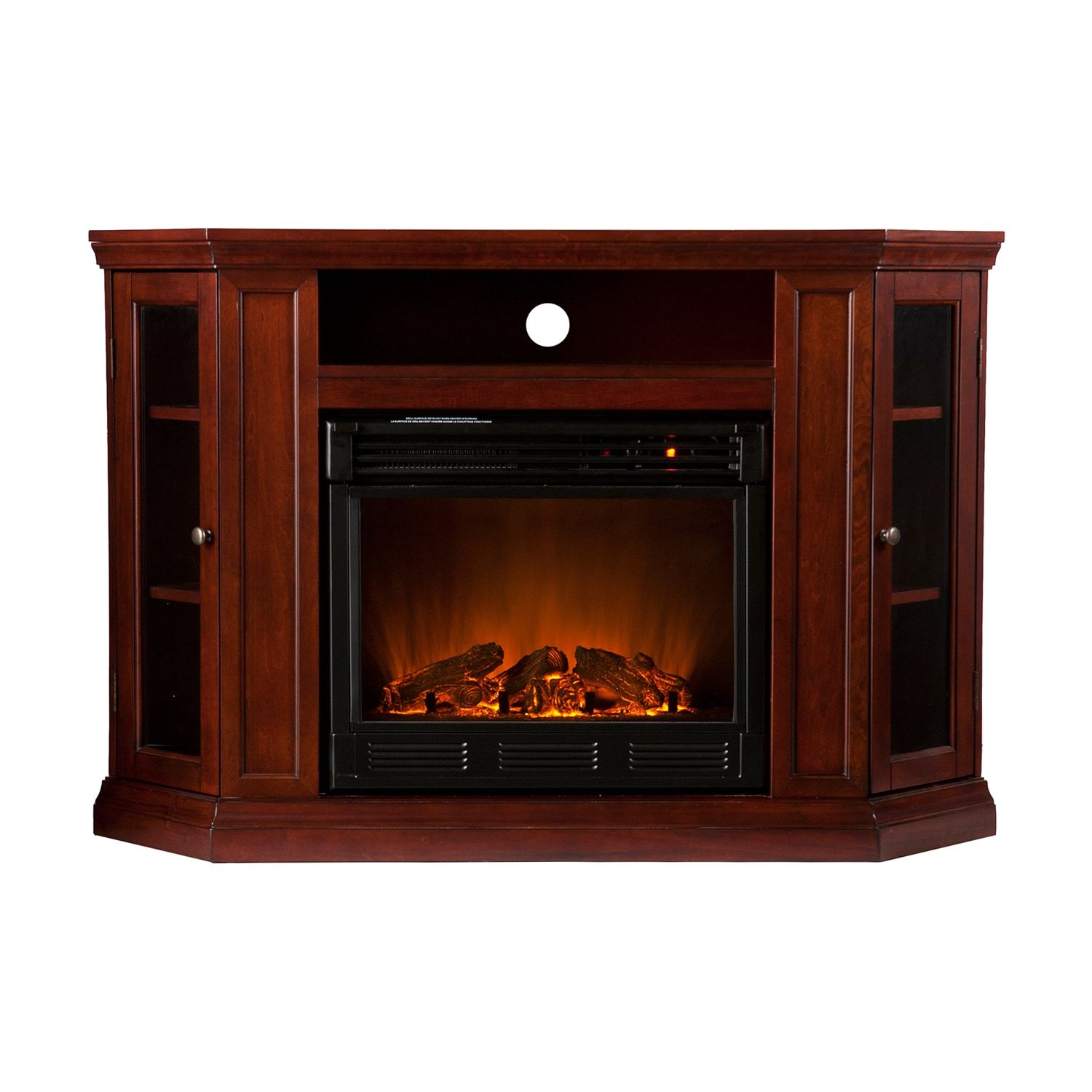 Abbey Cherry Finish Convertible Media Console Electric Fireplace Electric Fireplace Tv Stand Media Electric Fireplace Best Electric Fireplace