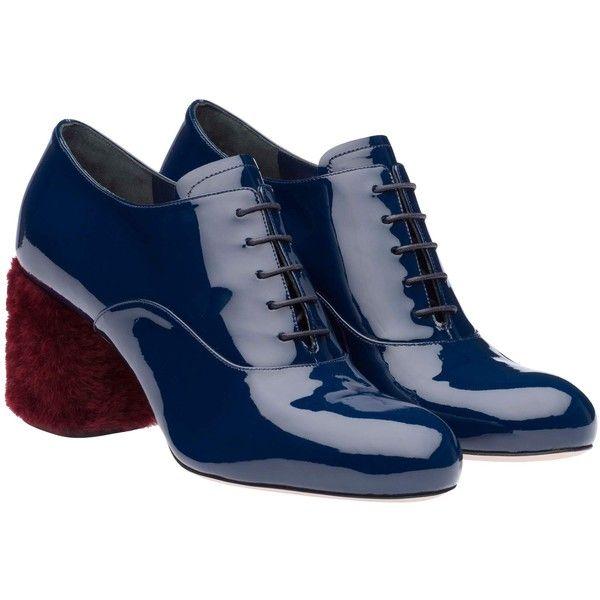 Miu Miu - Lace Ups - Royal Blue - Germany - 5E521A_3H7N_F0V41_F_065 (8.235.810 IDR) ❤ liked on Polyvore featuring shoes, miu miu and miu miu shoes