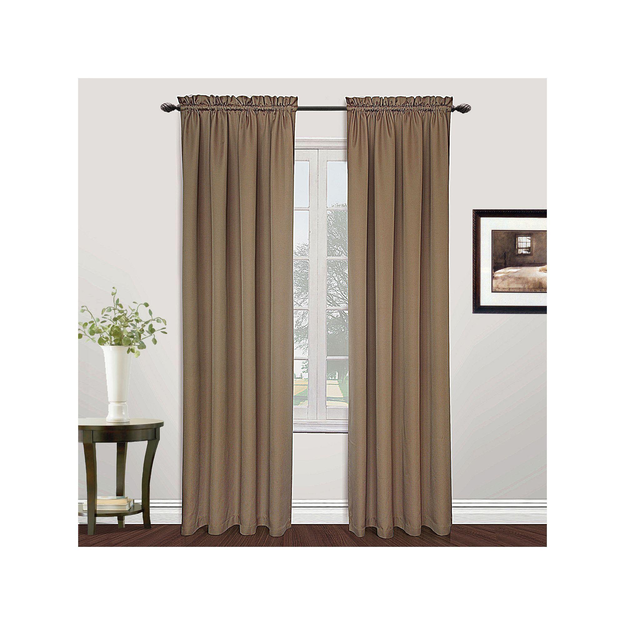 Lovely United Curtain Co. Metro Curtains, Beig/Green (Beig/Khaki)