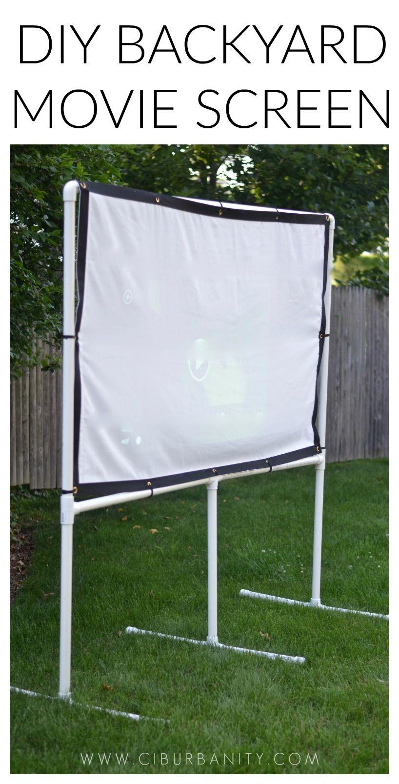DIY Backyard Movie Screen   Extérieur, Jardins et Pvc