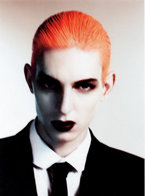 Thomas Penfound transforms into singing icon Annie Lennox for the Spring/Summer 2011 issue of Dansk Magazine.
