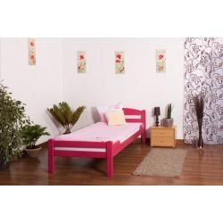 Photo of Kinderbett / Jugendbett Easy Premium Line K1/2n, Buche Vollholz massiv rosa lackiert – Maße: 90 x 20