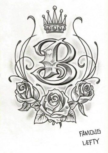 Tattoo Of The Letter B