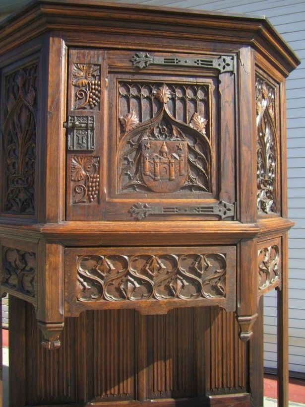 Gothic Furniture | French Antique Gothic Cabinet Cupboard Sideboard Gothic  Cabinets For .