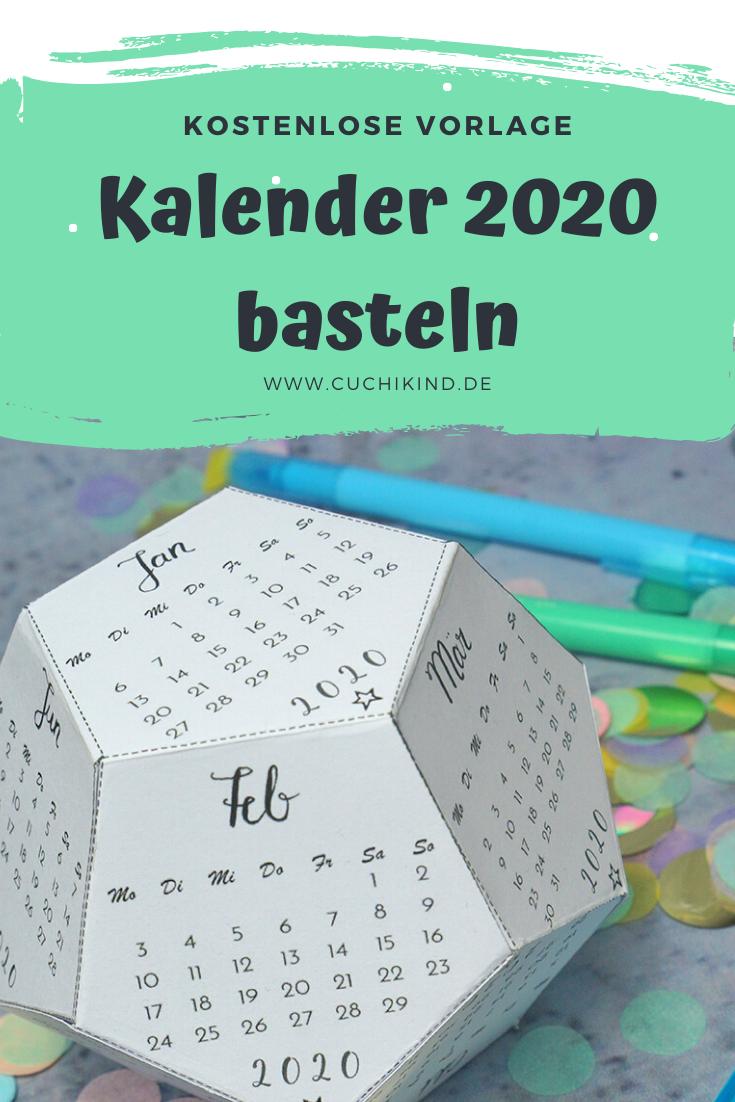 Kalender 2020 basteln kostenlose Vorlage Kalender zum