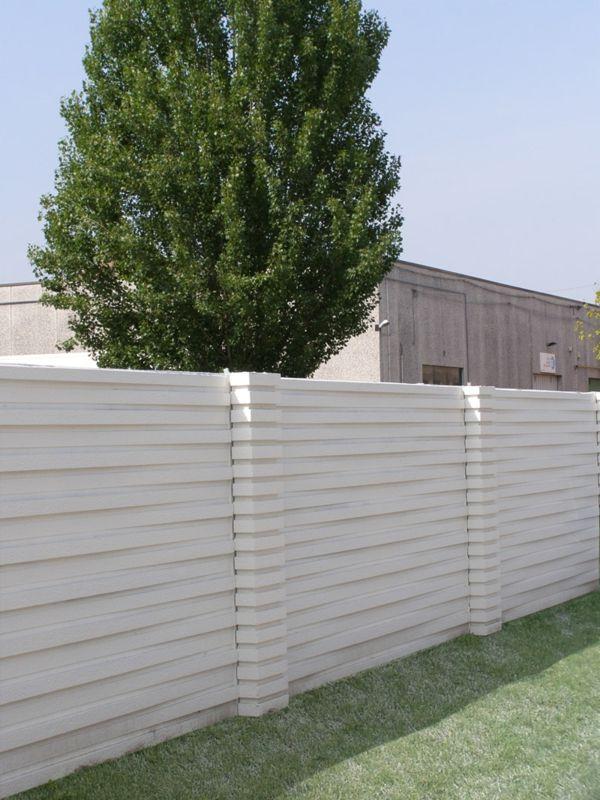 Wonderful Zaun Design Weiß Beton