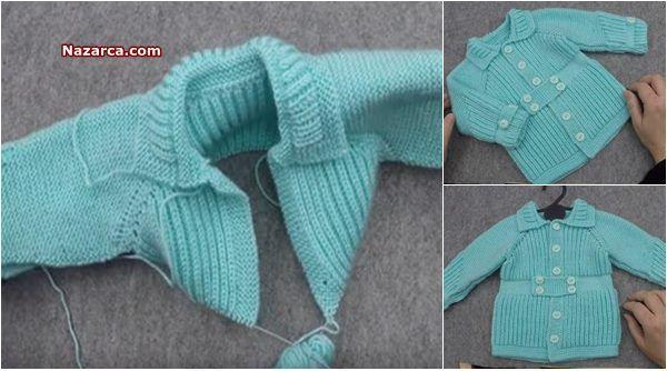 Robadan Selanik Modelli Bebek Hirkasi Detayli Anlatimli Nazarca Com Baby Knitting Patterns Bebek Orgu