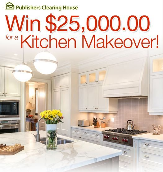 YOU Could Win Money Towards A Kitchen Makeover Contest With PCH! Images