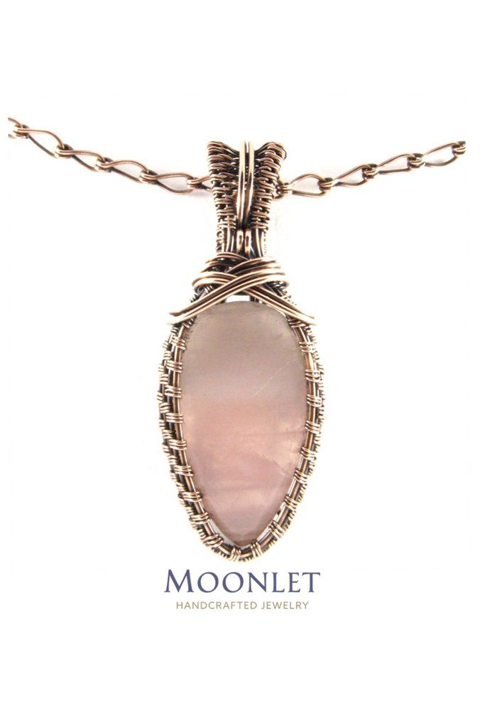 by MOONLET HANDCRAFTED JEWELRY Rose Quartz Cross Antique Copper ...