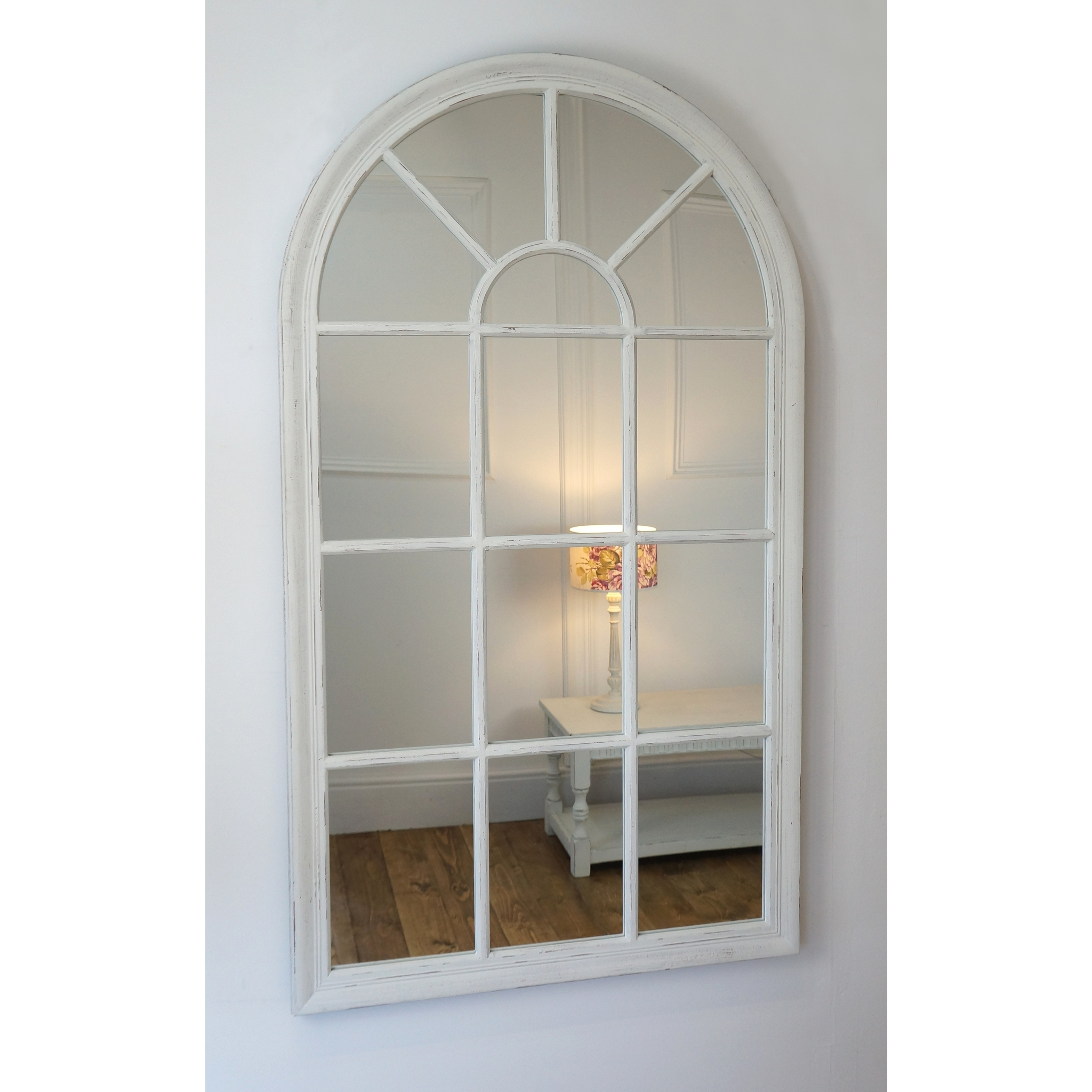 Arabella arched white mirror home decor my home for White mirror