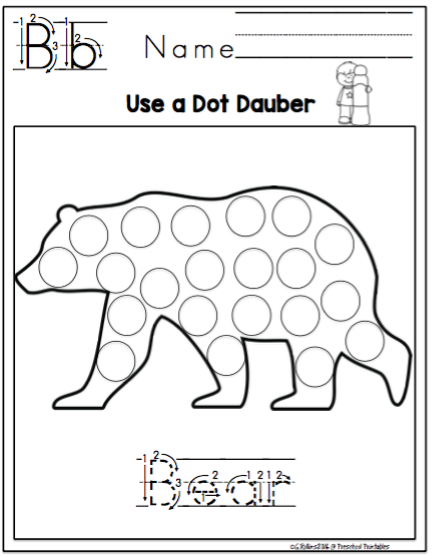 Animal Shapes Dot Dauber Fun