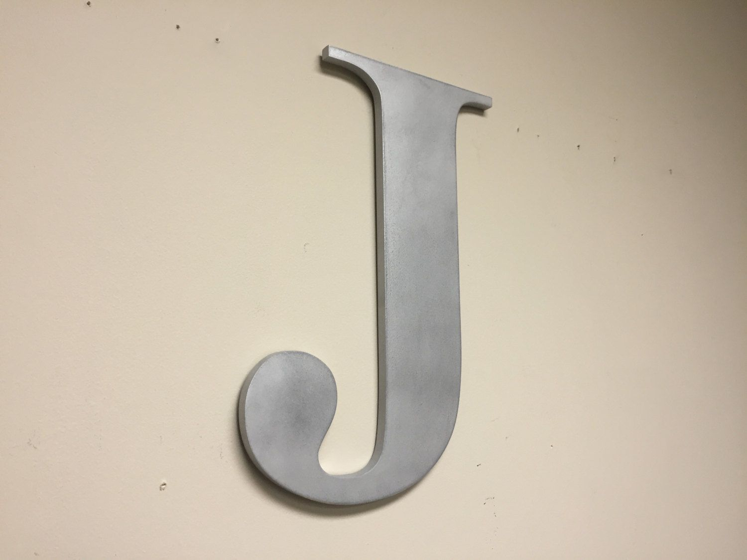 Large Letter J For Wall Mesmerizing Wood Letter J Silver Large Wall Mounted Letter Home Letter Inspiration