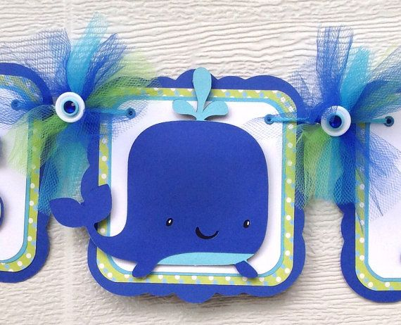 Whale Baby Shower Banner Whale Banner Blue And Green It S A Boy