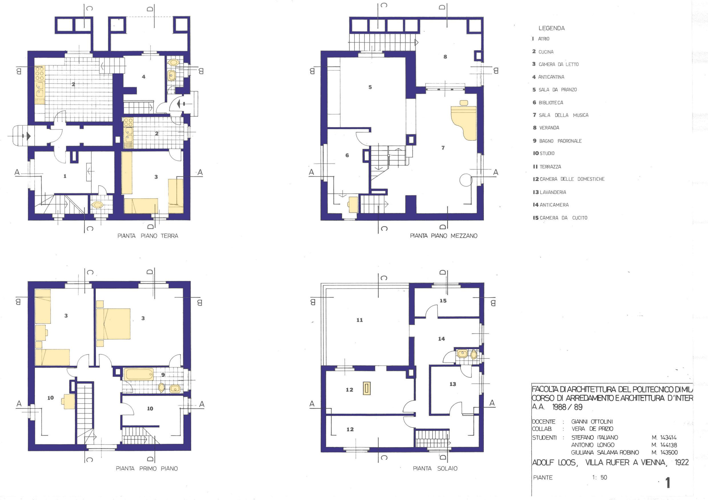 Rufer house detailed plans collage pinterest for Detailed house plans