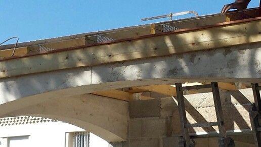 Béton coulé traditionnel pour cintres provençaux Suivi de chantier - couler une terrasse en beton