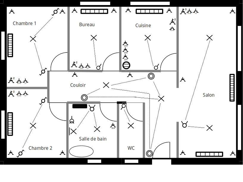 Plan D Electricite D Une Maison Pdf Plan Electrique Plan Electrique Maison Installation Electrique Maison
