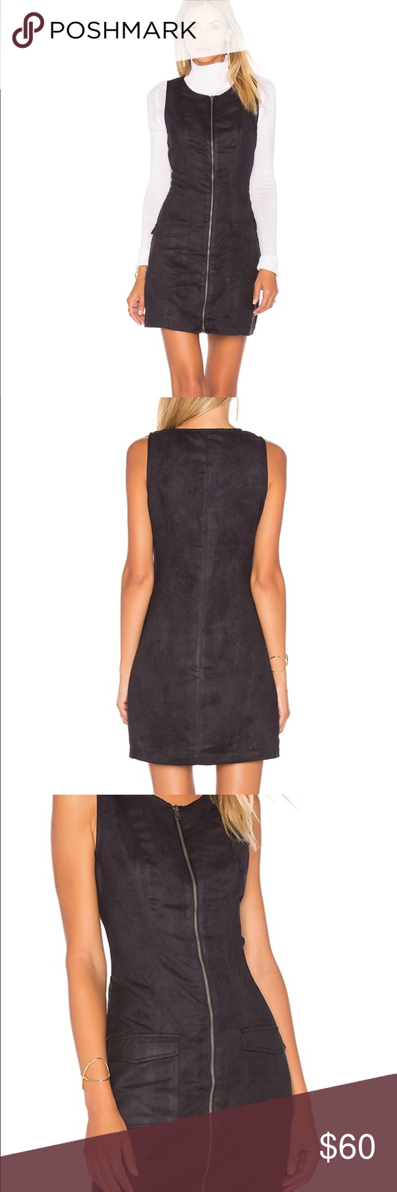 ec52c98224 Jack by BB Dakota Faux Suede Jumper Brand new with tags. Faux suede zip  front dress with double front pockets. Fits true to size. Great dress.