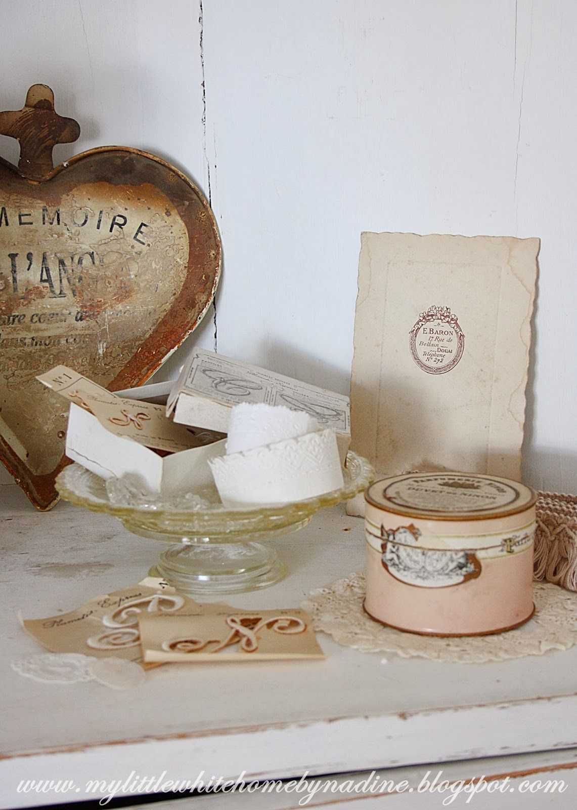 My little white home by Nadine: Brocante hoekje