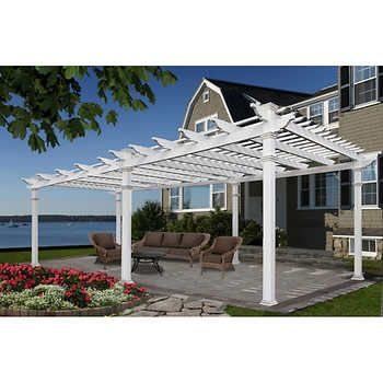 Valencia 12 X 16 Attached Pergola Outdoor Pergola White Pergola Pergola Patio