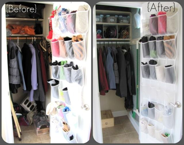 Exceptional Coat Closet Organization Ideas Part - 9: She Doesnu0027t Have A Mud Room Or Coat Closet, So She Needs To Get Creative  With Storage. I Found This Corner Bench U0026 Shelf (at Right) And Seve.