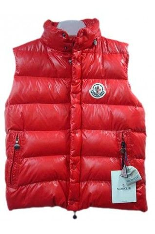Moncler Men's Red Fashion Vest