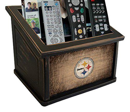 Fan Creations N0765-PIT Pittsburgh Steelers Woodgrain Media Organizer, Multicolored