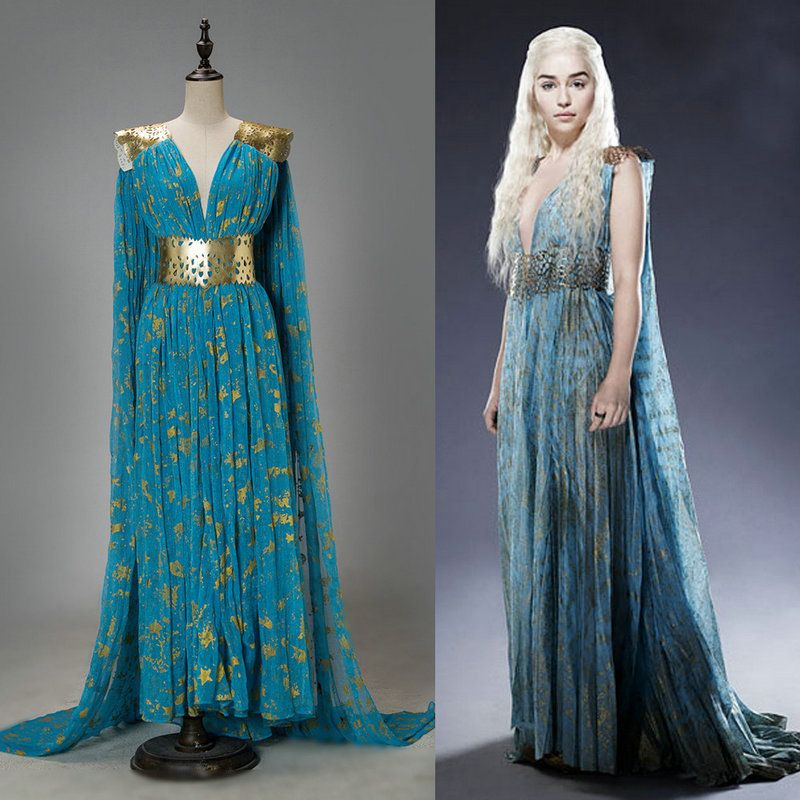6bb7ca49a30ddc Game of Thrones Costume Cosplay Daenerys Targaryen Qarth Dress Party  Halloween Cosplay Costumes-in Dresses from Women s Clothing   Accessories  on ...