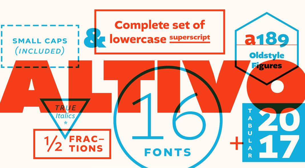 Altivo Font Family by Kostic Type Foundry typography