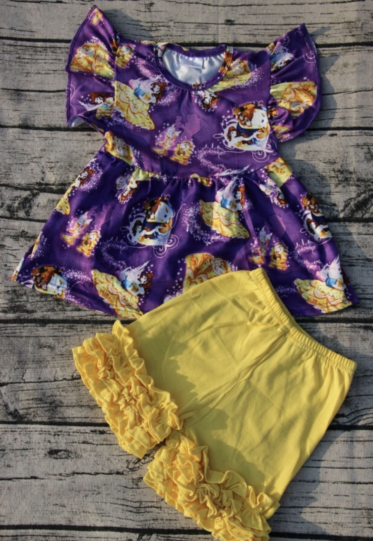 Beauty and the Beast Outfit Girls Disney Set Products