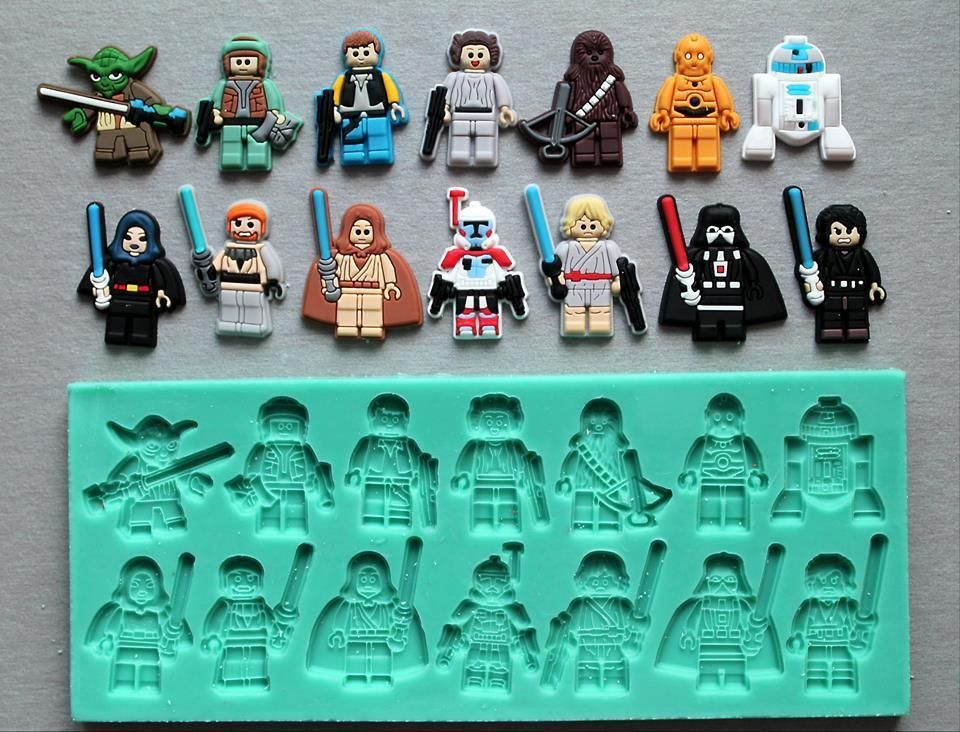 Silicone Mould Lego Star Wars Characters Set Cake Decorating Fondant